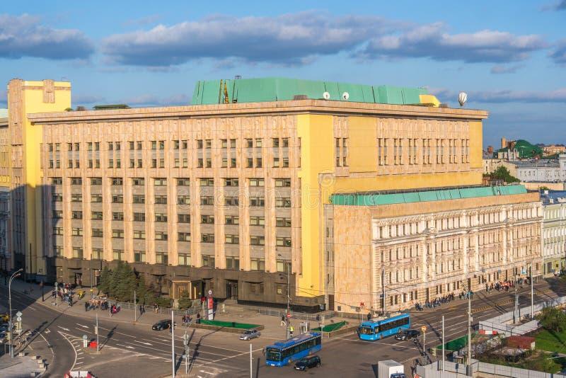 为FSB集中天线竞争的前克格勃信息安全 库存图片