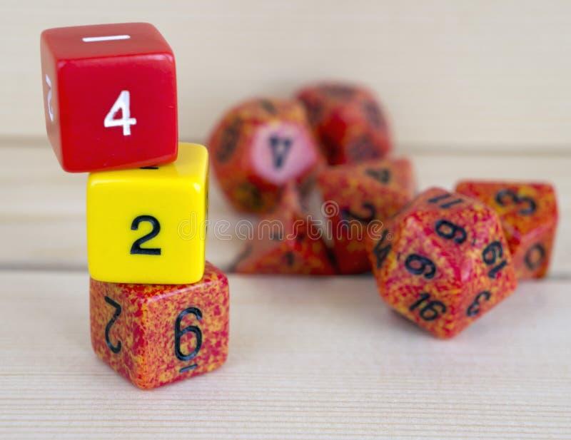 为rpg切成小方块、棋、桌面比赛或者土牢和龙 免版税库存照片