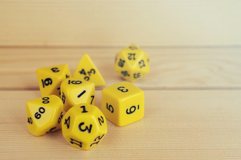 为rpg切成小方块、棋、桌面比赛或者土牢和龙 免版税图库摄影