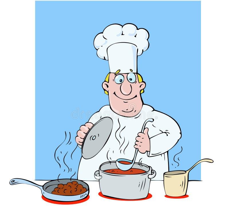 主厨专业人员 库存例证