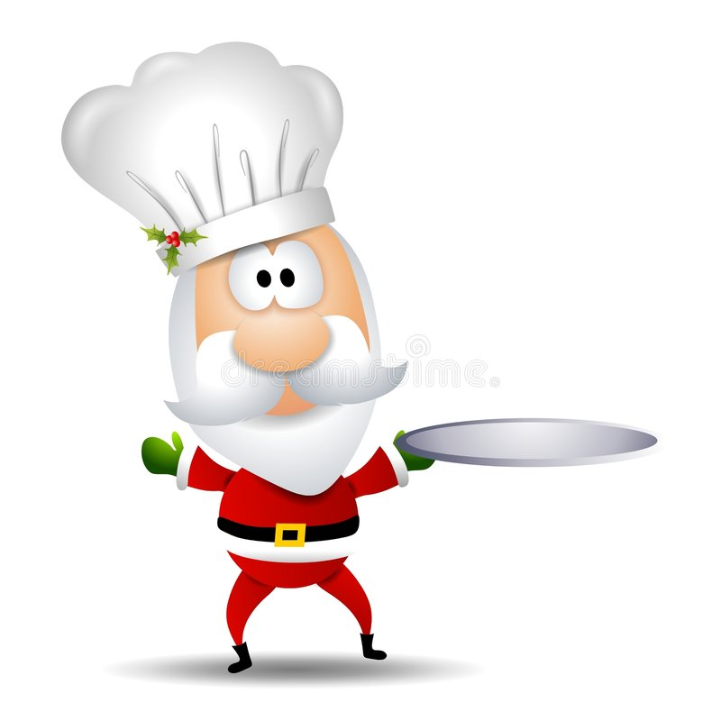 主厨克劳斯・圣诞老人 向量例证