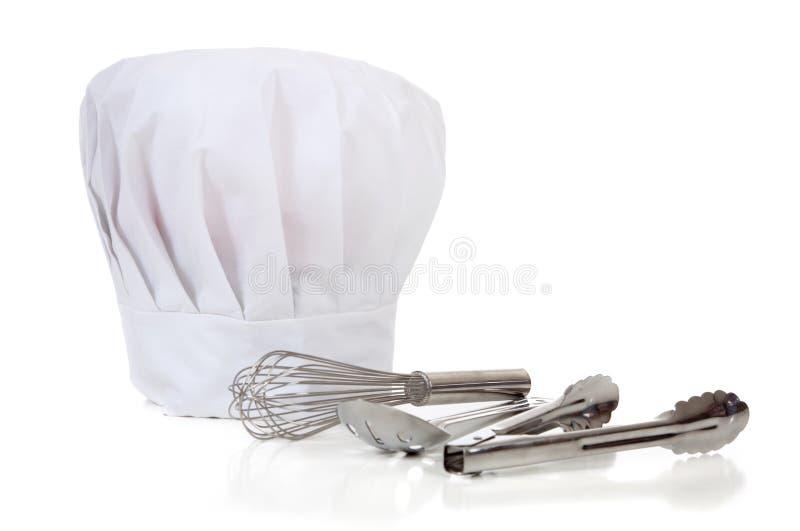 主厨厨具工具 免版税库存图片