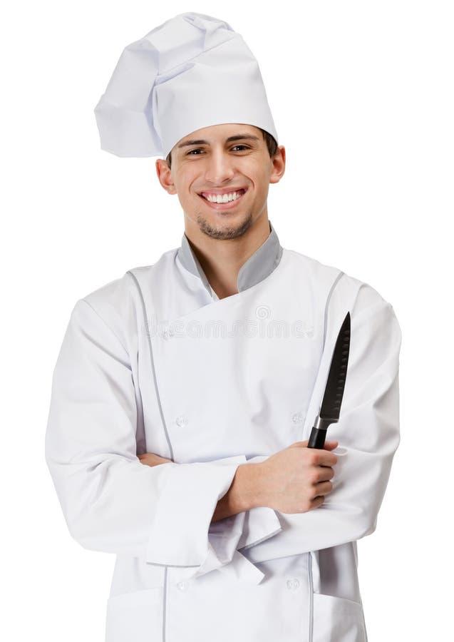 主厨厨师递刀子 免版税库存图片