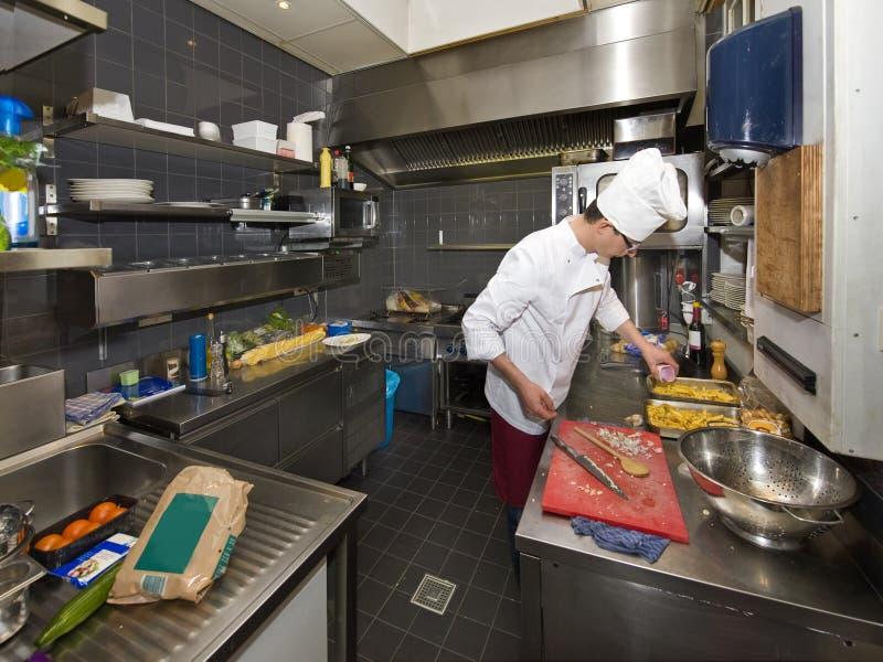 主厨厨房 免版税库存照片