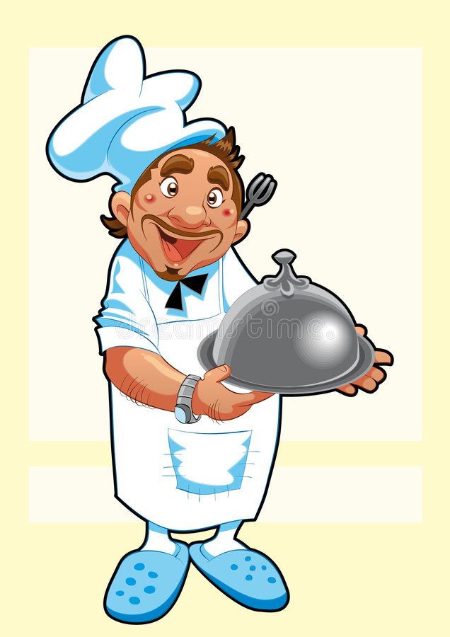 主厨图象向量 向量例证