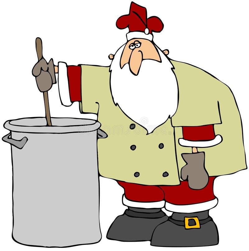主厨圣诞老人 向量例证