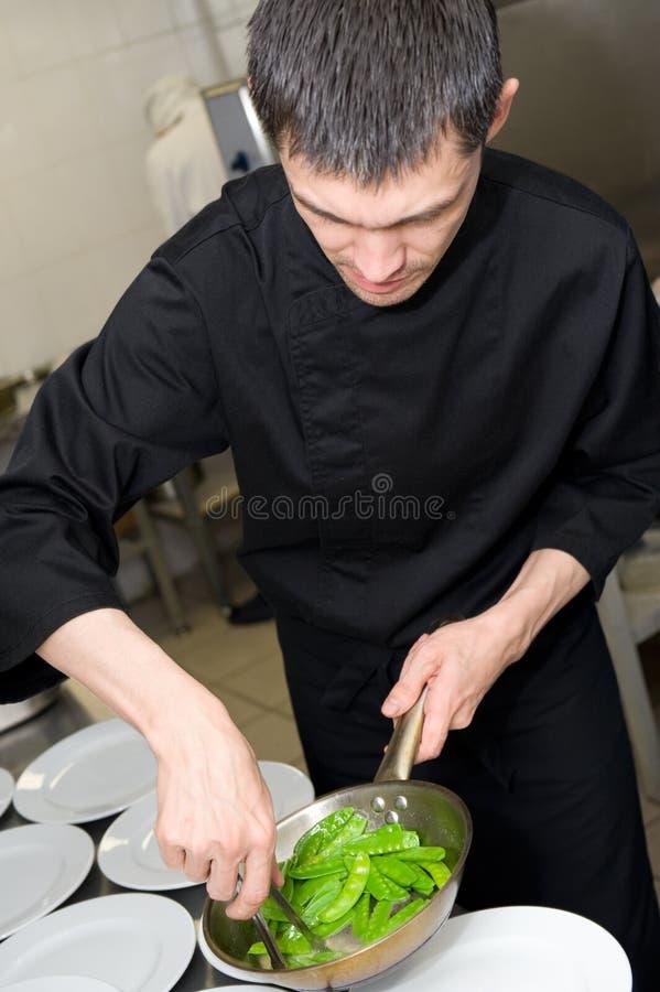 主厨工作 图库摄影