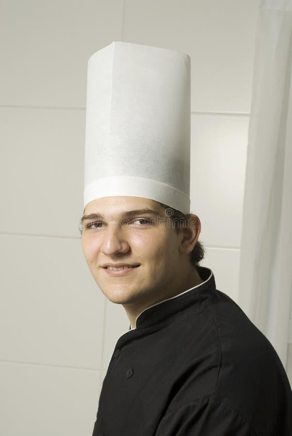 主厨年轻人 免版税图库摄影
