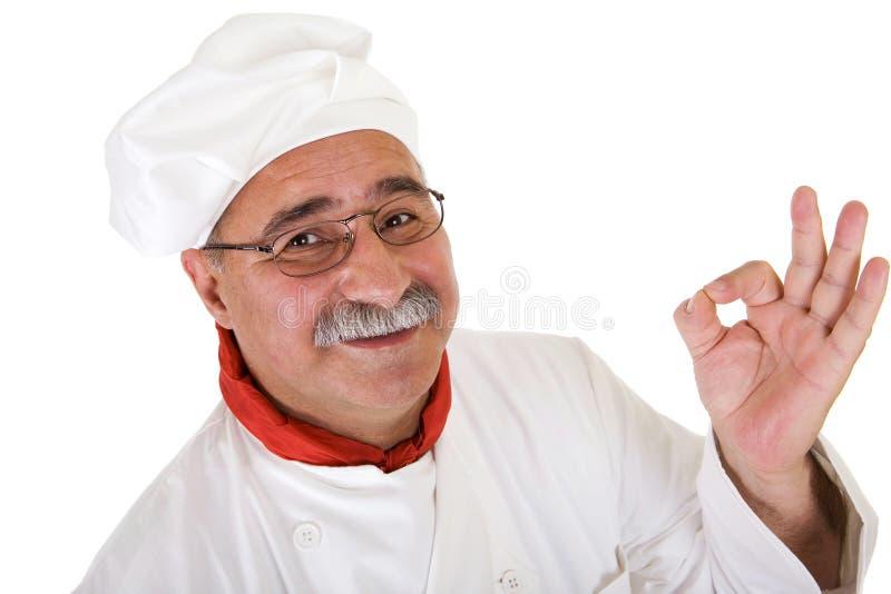 主厨意大利语 库存图片