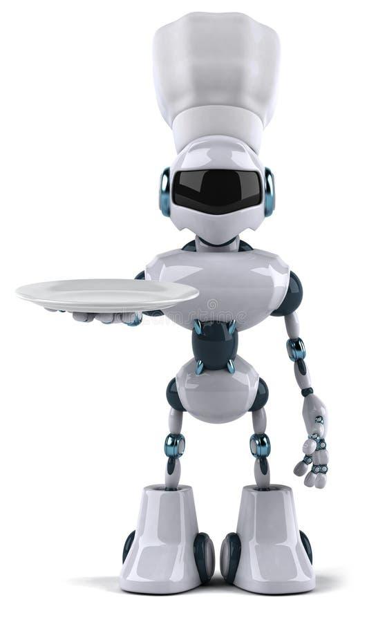 主厨机器人 皇族释放例证