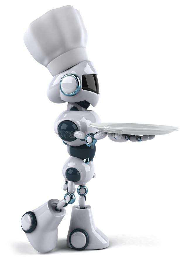 主厨机器人 向量例证