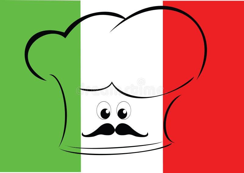 主厨标志意大利语 向量例证