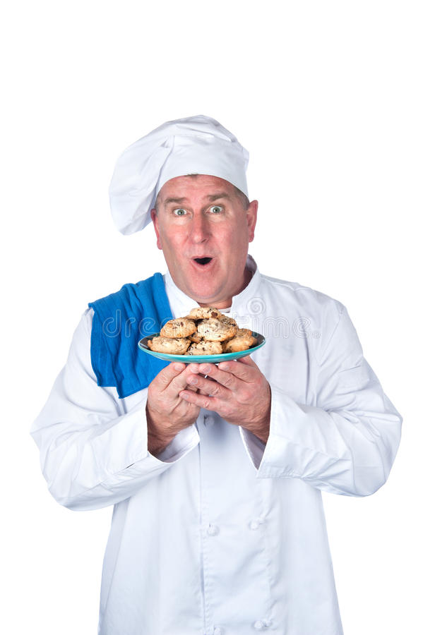 主厨激动 库存照片