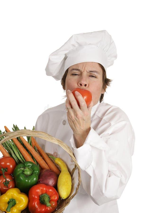 主厨系列甜点蕃茄 库存图片
