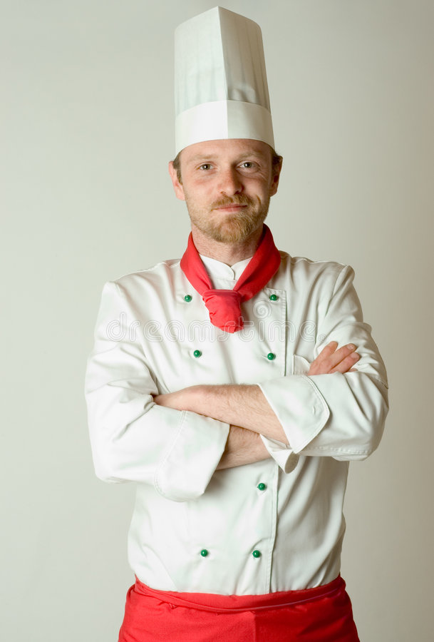 主厨纵向 免版税库存图片