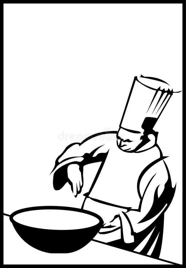 主厨重要资料 皇族释放例证