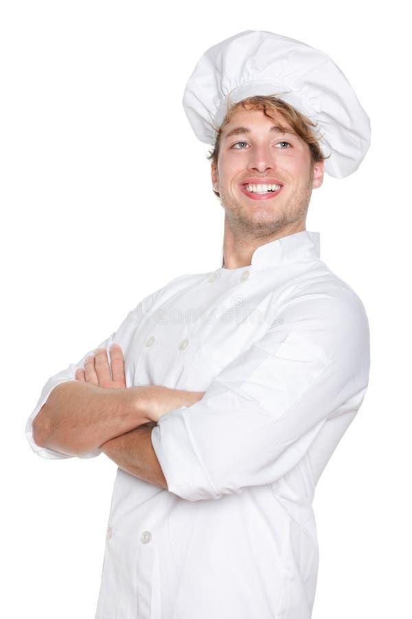 主厨骄傲的纵向 库存图片