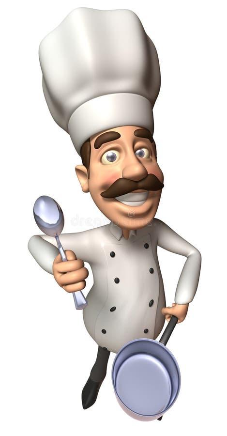 主厨 库存例证