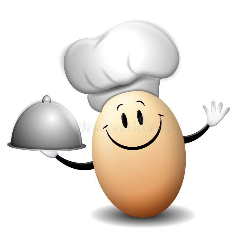 主厨eddie鸡蛋 库存例证