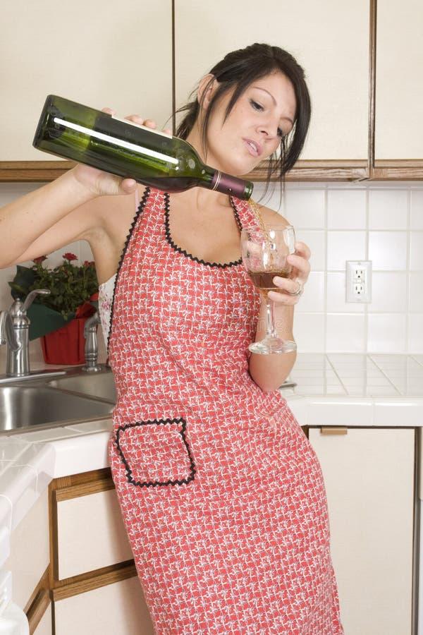 主妇厨房 图库摄影