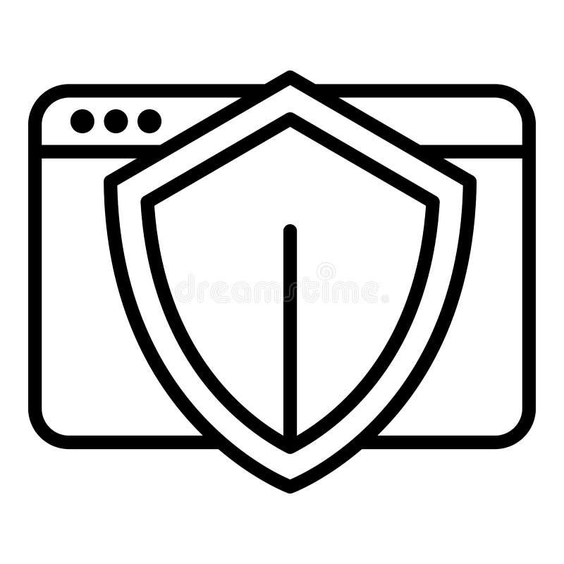 主持保护象,概述样式 向量例证
