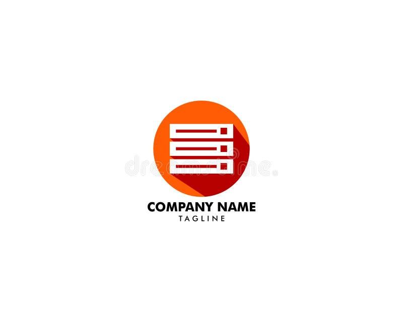 主持商标模板设计传染媒介,主持象,平的设计 库存例证