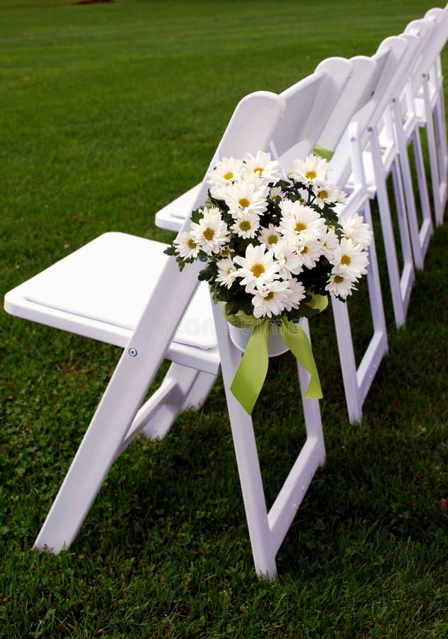 主持客户室外行唯一婚礼 图库摄影