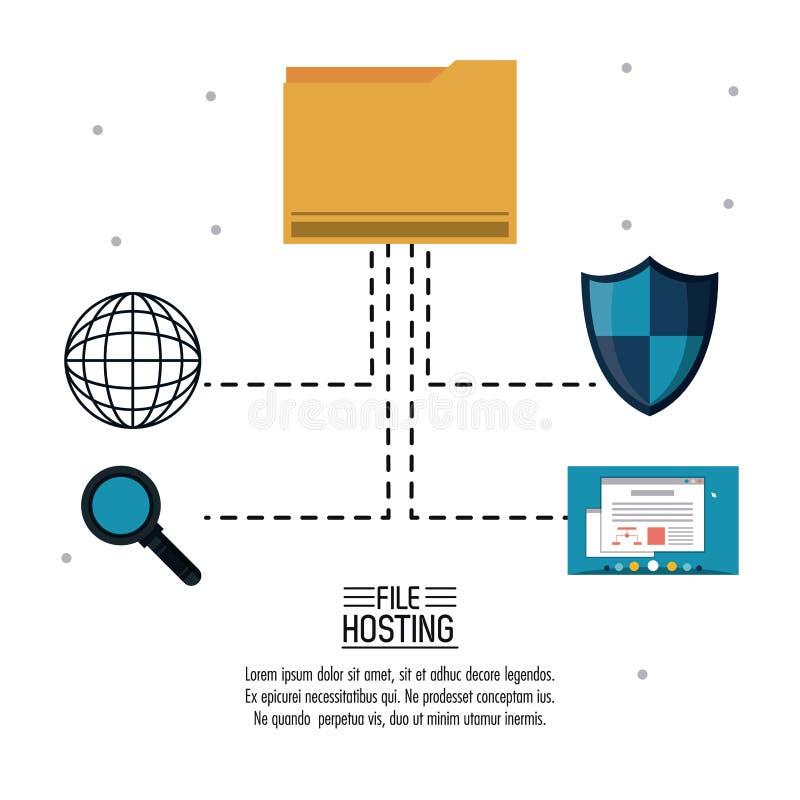 主持技术的文件 库存例证