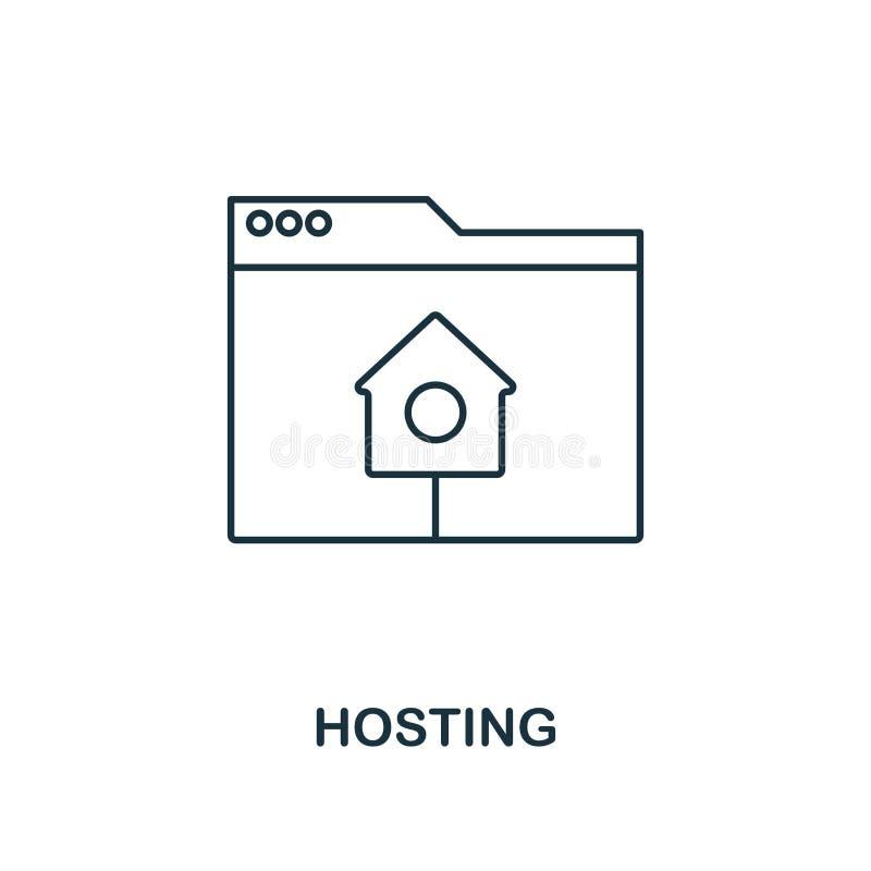 主持概述象 从网发展象汇集的简单设计 UI和UX 映象点完善的主持的象 对网络设计,a 向量例证