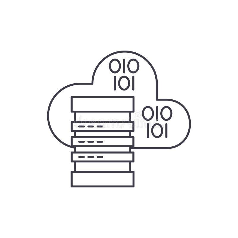主持线象概念的云彩 主持传染媒介线性例证,标志,标志的云彩 库存例证