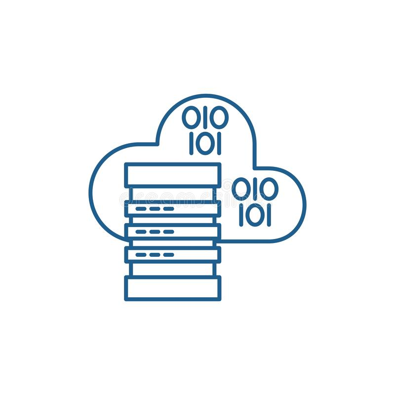 主持线象概念的云彩 主持平的传染媒介标志,标志,概述例证的云彩 库存例证