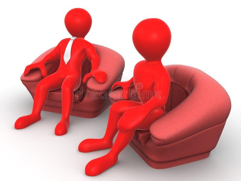 主持补充供以座位二的人 向量例证