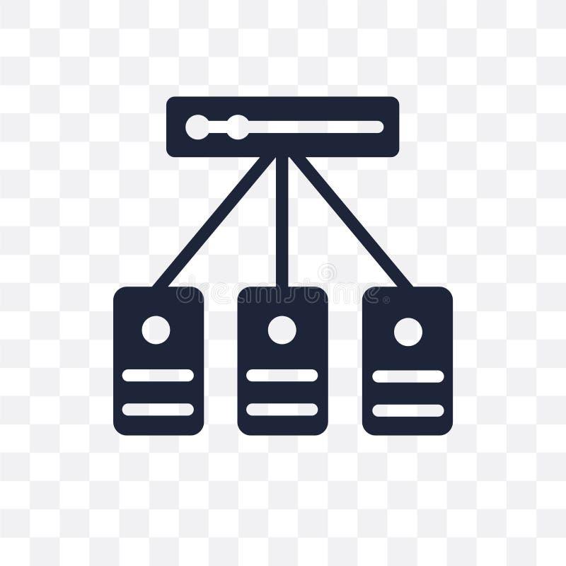 主持透明象 主持从编程的标志设计 皇族释放例证