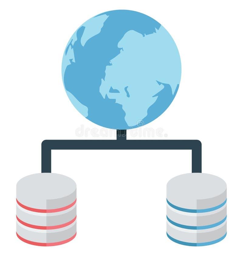 主持,全世界被隔绝的分享可以容易地是编辑或修改了 库存例证