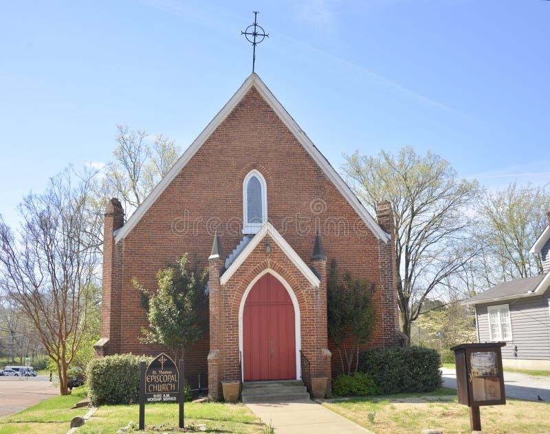 主教制度的教会在萨默维尔, TN 免版税库存照片