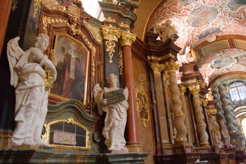 主教教会波兰波兹南st stanislaus 库存照片