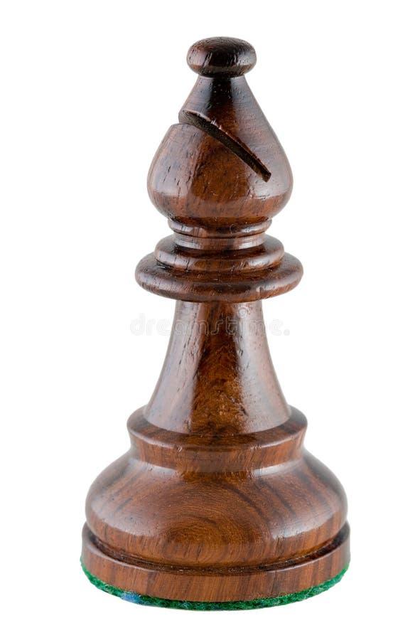 主教黑色棋子 图库摄影