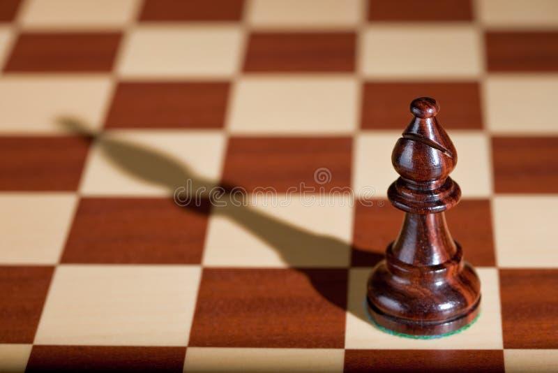主教黑色棋棋枰部分 免版税库存图片