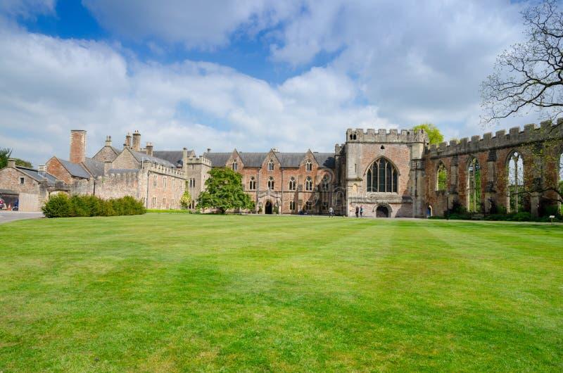 主教` s宫殿,维尔斯,萨默塞特,英国 免版税库存照片