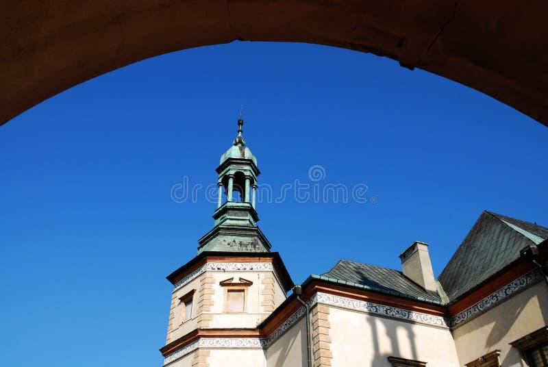 主教kielce宫殿波兰s 图库摄影