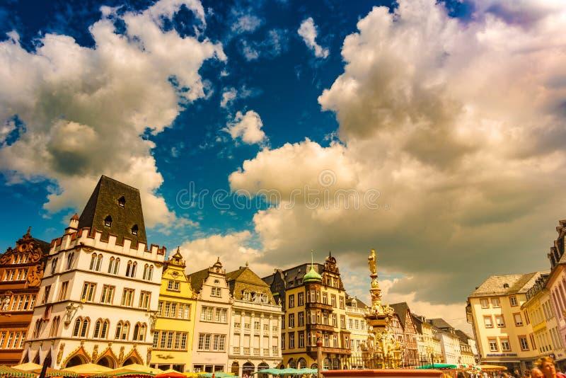 主要市场实验者莱茵河流域巴列丁奈特德国 免版税库存图片