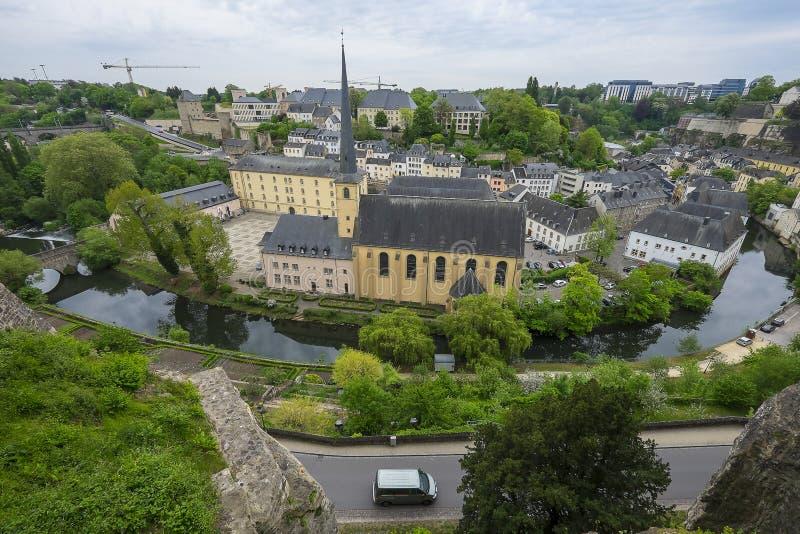 主要教会在卢森堡市,卢森堡 免版税库存图片