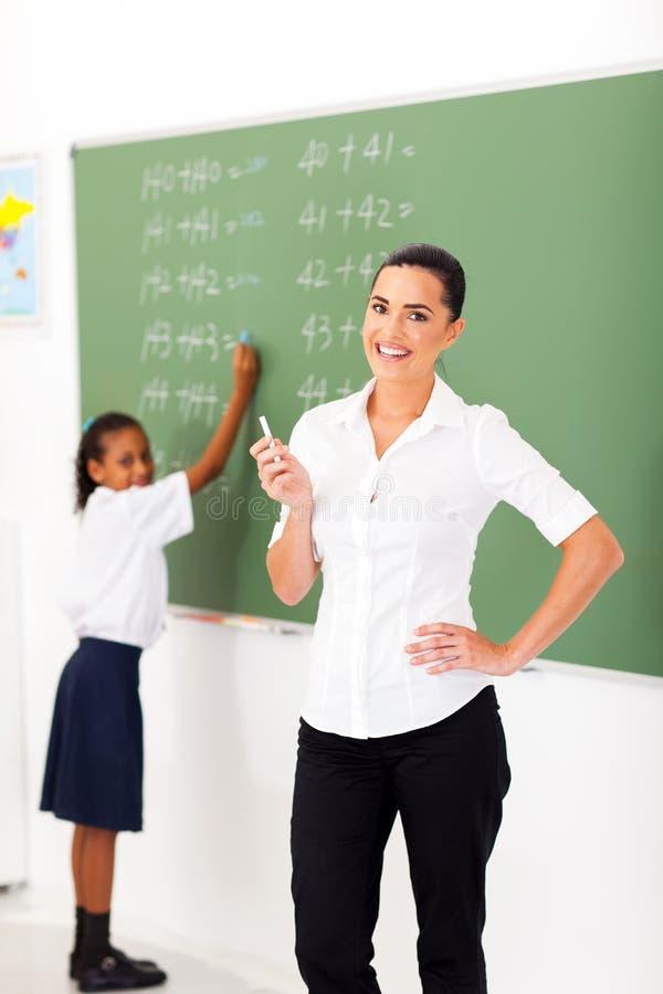 主要数学老师 库存照片