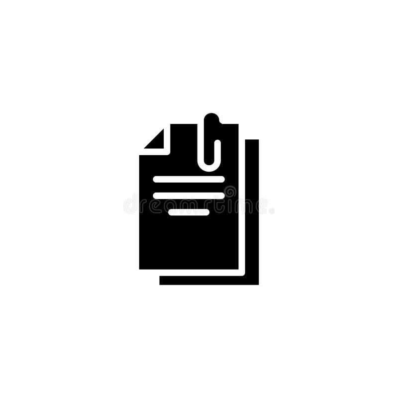 主要文件黑象概念 主要文件平的传染媒介标志,标志,例证 皇族释放例证