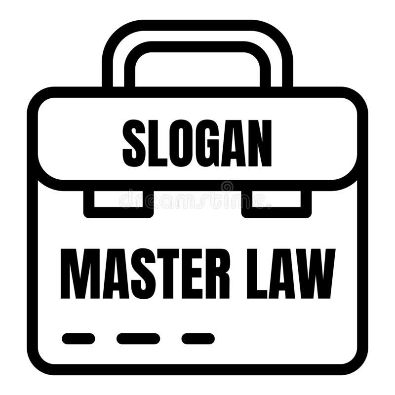 主要法律象,概述样式 向量例证