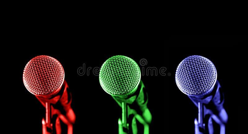 主要的mics 图库摄影