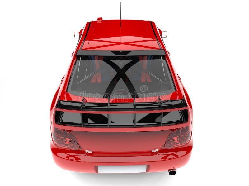 主要红色现代游览的车的上面退却看法 向量例证