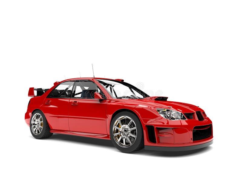 主要红色现代种族游览车 向量例证