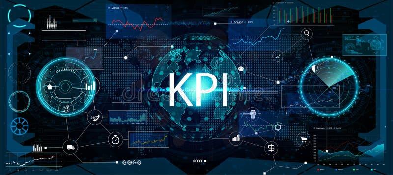 主要绩效显示KPI和企业逻辑分析方法BA 向量例证