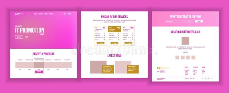 主要网页设计传染媒介 网站商业图表 着陆模板 未来能源计划 增加经验 皇族释放例证